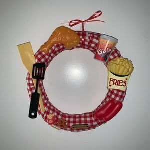 Adorable Summer Food Picnic wreath Handmade!